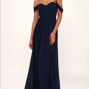 Lulus navy blue formal gown